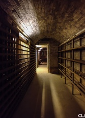 Munitions storeroom converted to wine cellar.