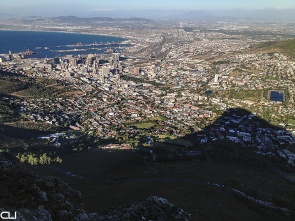 Cape Town city centre, harbour - from Lion's Head