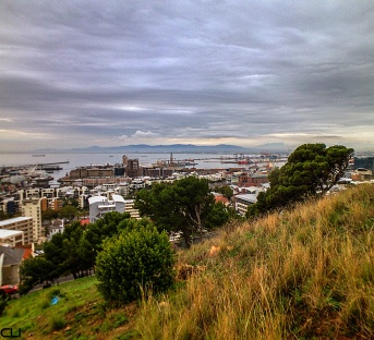 Cape Town harbour as seen from Signal Hill.