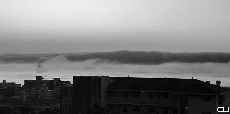 Fog not Tsunami...