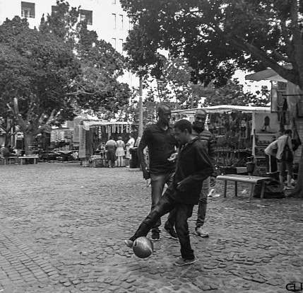 Football in Greenmarket Square
