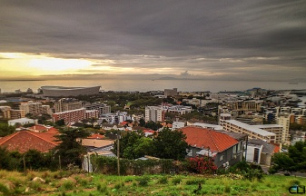 Overlooking Green Point and the Stadium.