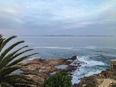 Hermanus looking towards Cape Agulhas - the southernmost tip of the African continent.