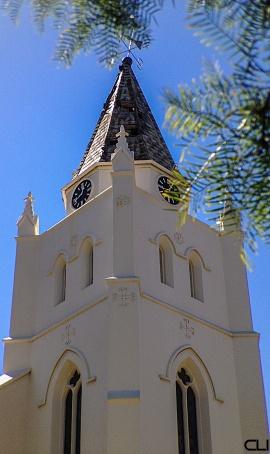 Lightening struck the church.. need to pray harder?