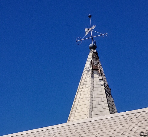 Lightening-struck church steeple, Montagu