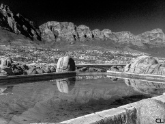 Maiden's Cove - Camps Bay - The Pool, The Twelve Apostles and the town.