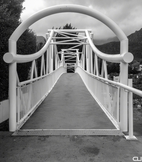 Pedestrian bridge over the Montagu River.