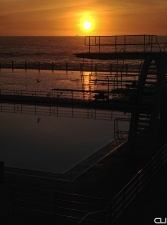 Sunset at the Sea Point Pavilion - one of the most beautiful public pools in the world.