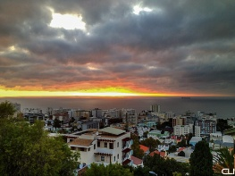 Sea Point at sunset.