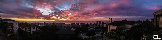 Sunset over Sea Point.