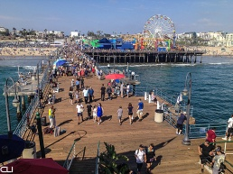 Santa Monica Pier on a summer afternoon