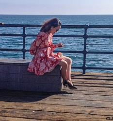 Sitting on the pier