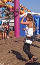 Color-conscious Californian: cellphone case matches theme park columns...