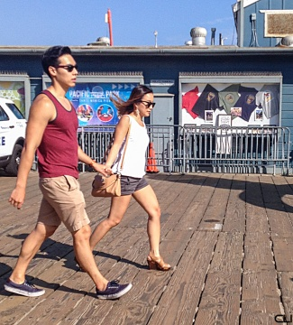 Running on the boardwalk