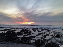 Rocks, Ocean, Sky, Sun.