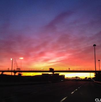 Sunrise leaving Cape Town