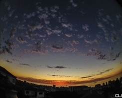 Fisheye view of Sea Point sunset