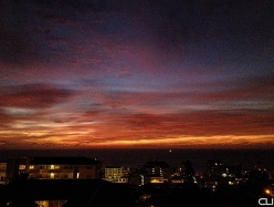 After sunset, Sea Point.