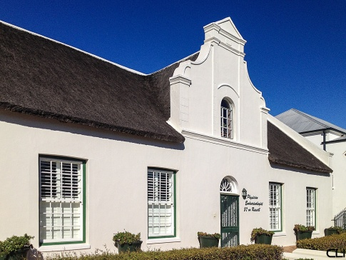 Cape Dutch with original thatch roof, now a doctor's office.