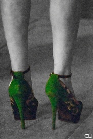 ..yes, she did dance (very well) in these heels...