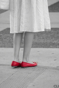 Red slippers of Oz... Hollywood Blvd.